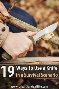What's so great about knives? All they do is cut things, right? In this article, I'm going to list 19 ways a knife could come in handy during a disaster.  via @urbanalan