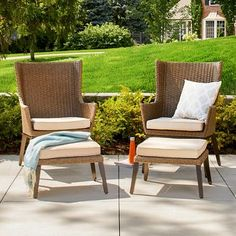 Threshold Halsted 5 Piece Wicker Small Space Patio Furniture Set |  Pinterest | Patio Furniture Sets, Patios And Furniture Sets