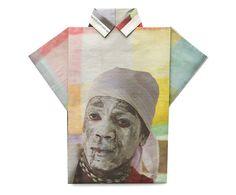 from Newshirt series, folding shirts from newspaper by Jetty van Wezel (via Fubiz)