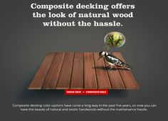 How it s made composite decking pinterest composite for Fiberon decking cost per square foot