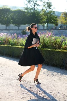 At the Tuileries…Black Coat, Paris | The Sartorialist