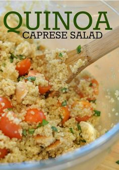 Quinoa Capreese Salad- healthy, fresh and filling!