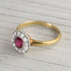Image of .60 Carat Ruby Vintage Engagement Ring