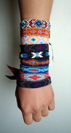 Custom Native American beaded bracelet by HairTrigger on Etsy, $37.00