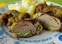 Kuřecí játra v medvědím kabátku Baked Potato, Mashed Potatoes, Pork, Food And Drink, Homemade, Meat, Baking, Ethnic Recipes, Whipped Potatoes