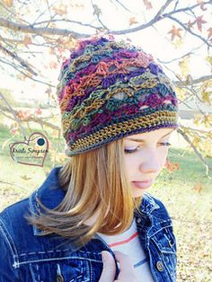 This hat will be perfect for any casual outing. Make in fall colors or spring and have the perfect year-round slouchy!