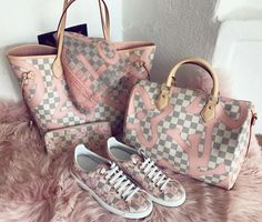 2017 Fashion Trendy #Louis #Vuitton #Handbags With a Fresh. Louis Vuitton Neverfull Tahitienne Speedy Neverfull Mm Tote in Rose Ballerine