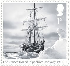 Shackleton and the Endurance Expedition 1st Stamp (2016) Endurance drozen in pack ice - January 1915
