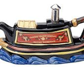 The 'Canal Boat' full size Teapot