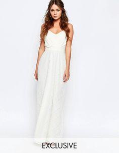 Image 1 ofElise Ryan Maxi Dress With Lace Skirt