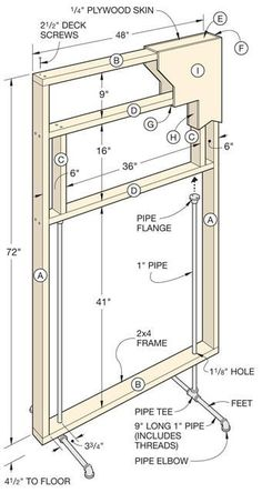 movable walls --- better homes and gardens : freestanding divider wall plans Home Improvement Projects, Home Projects, Diy Room Divider, Room Dividers, Divider Walls, Movable Walls, Movable Partition, Partition Ideas, Free Standing Wall