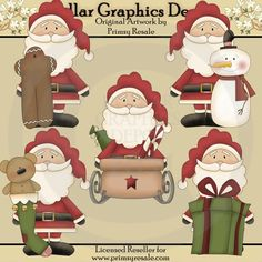 Santa and Friends 2 - $1.00 : Dollar Graphics Depot, Quality Graphics ~ Discount Prices