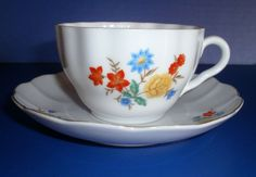 Arabia of Finland Porcelain Tea Cup and Saucer (a)
