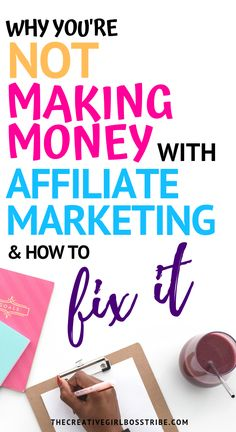 Making money blogging with affiliate marketing isn't as easy as it seems. You need a solid strategy. Learn why you're not making any money with affiliate marketing and how to turn that around easily. Make Money Blogging, Make Money From Home, Way To Make Money, Make Money Online, Earn Money, Big Money, Online Earning, Online Jobs, Blogging Ideas