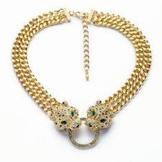 Double Gold Leopard Necklace – Fanduoduo Jewelry