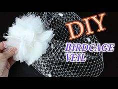 {TANYA} v.2 - How to make a Floral Birdcage Veil Headband : DIY Tutorial - YouTube