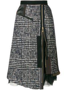 layered zipped skirt
