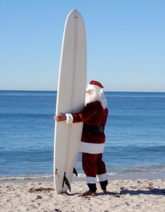 Santa looking for his reindeer over the pacific.  Just checkin' it out!