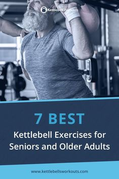 The 7 Best Kettlebell Exercises for Seniors and Older Adults. Discover exactly what kettlebell exercises you should be using and how to progress your kettlebell workouts safely. Fitness Workouts, Ace Fitness, Senior Fitness, At Home Workouts, Physical Fitness, Mens Fitness, Workouts Hiit, Ball Workouts, Family Fitness