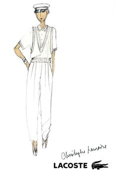 Christophe Lemaire Lacoste Sketch