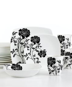 222 Fifth Dinnerware Dancing Blooms 16 Piece Set $79.99  sc 1 st  Pinterest & Home Accents EMILY ROOSTER COOKIE | Dinnerware