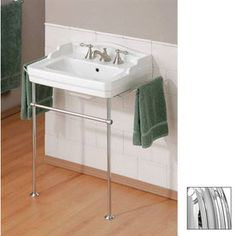 LOWES: Cheviot Essex White Wall-Mount Rectangular Bathroom Sink with Overflow CHROME $546