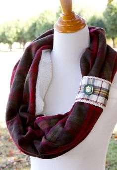 Tutorial: Fleece and flannel scarf