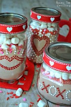 Valentine's Day Gift Jars - a fun, simple, delicious gift idea! by kristie