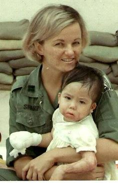 Linda Caldwell of Aiken, pictured in her help extended not only to soldiers, but children, from her tenure as an Army nurse in 1967-68 in the Vietnam War
