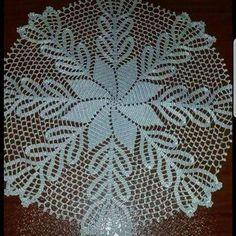 Best 12 Handmade Crochet Cotton Doily With Pineapple Shape Details Crochet Round, Hand Crochet, Crochet Lace, Crochet Table Topper, Crochet Tablecloth, Easter Crochet Patterns, Crochet Borders, Lace Doilies, Crochet Doilies