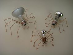 Light bulb spiders!!! these would be cool sitting around my insect collection.