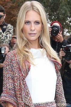 Poppy Delevingne at the Chanel Fashion Show during Paris Fashion Week Womenswear Spring/Summer 2014 in Paris, France - October 1, 2013