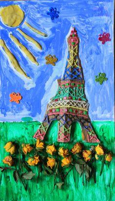 Nasza handmade Wieża Eiffla.  Na Placu Francuskim świetnie się bawimy, uczymy francuskiego i czytamy książki z Francją w tle. Tour Eiffel, Eiffel Tower