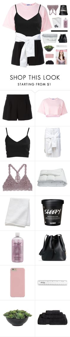"""""""one more weekend"""" by flying-baby-unicorn ❤ liked on Polyvore featuring Boutique Moschino, Steve J & Yoni P, T By Alexander Wang, Frette, CB2, philosophy, Sophie Hulme, Lux-Art Silks and Superior"""