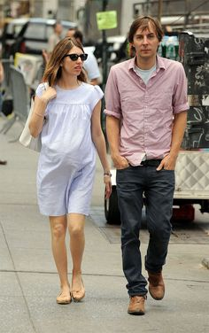 sofiasgirls:Sofia Coppola, pregnant with her daughter Romy, and Thomas Mars out and about in 2010.