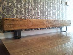 White Oak Barn Beam Hallway Bench!   Rebarn   Barnwood Furniture   Barn Furniture Toronto   Reclaimed Barnwood Furniture