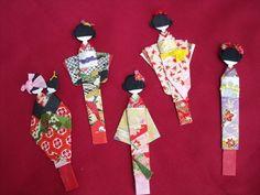 Japanese shiori ningyo . origami doll