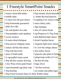 1 Freestyle SmartPoint Snack Ideas for Weight Watchers