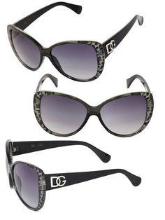 Dg Women Cat Eye Uv400 Sunglasses + Free Pouch - T. Green / S. Black Lens Dg179