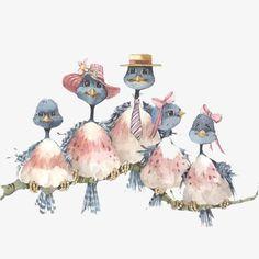 creative,cartoon,hand painted,birds,hand,painted,birds clipart