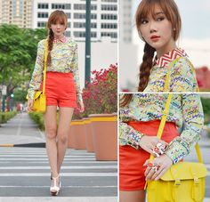 Love this bright yellow bag    (by Camille Co) http://lookbook.nu/look/3174849-Ronald-McDonald-Inspired-Me