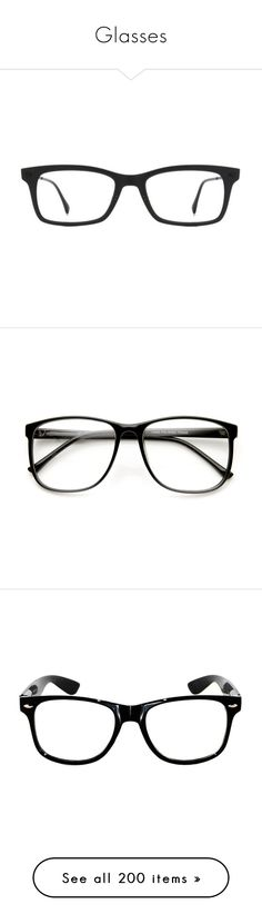 """""""Glasses"""" by musicmelody1 on Polyvore featuring accessories, eyewear, eyeglasses, glasses, black, black wayfarer, black glasses, wayfarer eyeglasses, ray ban eyewear and rectangle eyeglasses"""