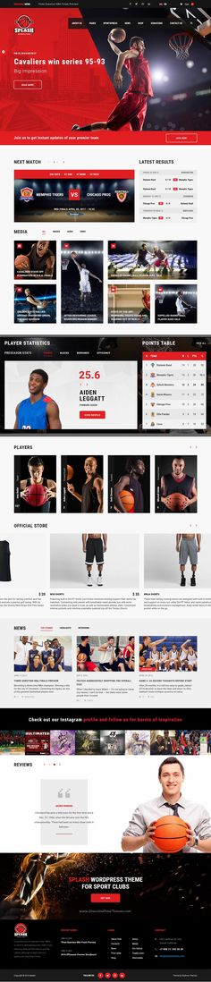Splash is a beautifully design #WordPress template for #basketball or any #sports club website download now➯ https://themeforest.net/item/splash-basketball-sports-wordpress-theme/16751749?ref=Datasata