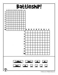Printable Battleship game (and other printables). Would