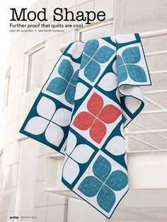 Mod Shape Quilt Pattern Download - Throw/Lap Quilts - Patterns