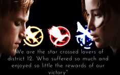I present the star crossed lovers of district 12