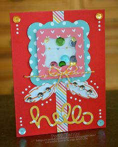 Scrap and life: HELLO!!! SHAKER BOX CARD :)