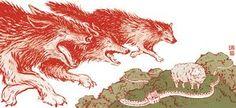 Contemporary Chinese Fiction by Yuko Shimizu Yuko Shimizu, North American Animals, Wolf Totem, Call Of The Wild, Spirit Animal, Ny Times, Childrens Books, Fairy Tales, Moose Art