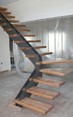 Wood stairs!