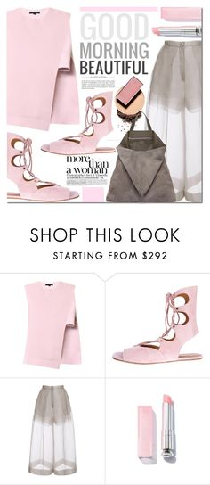 """Good Morning Beautiful"" by barbarela11 ❤ liked on Polyvore featuring Alexander Wang, Chloé, Delpozo, Surratt and TSATSAS"